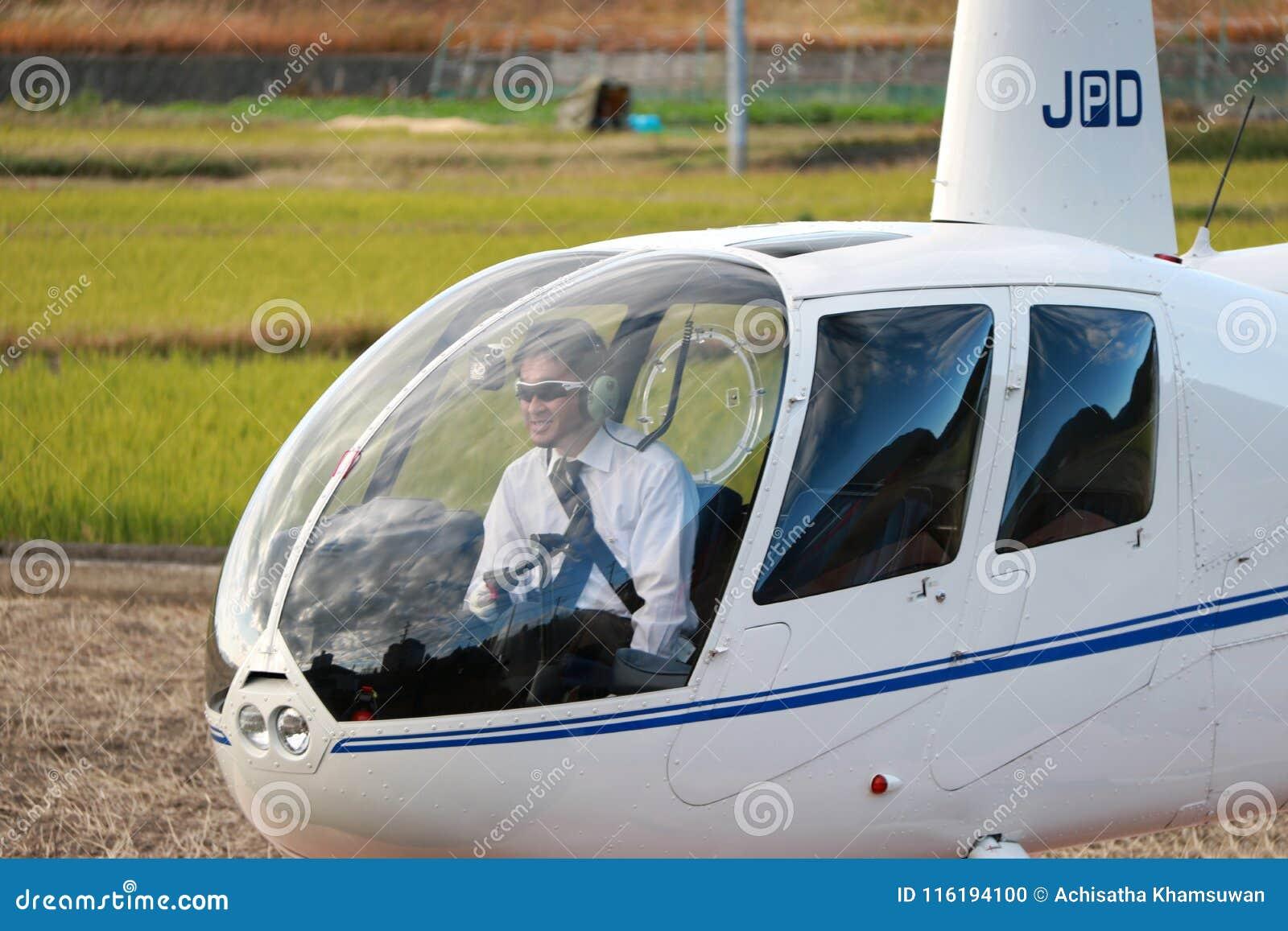 Helikopteru pilot w podróż helikopterze JA002R - ROBINSON R44 kruk od Robinson Helikopter Firma