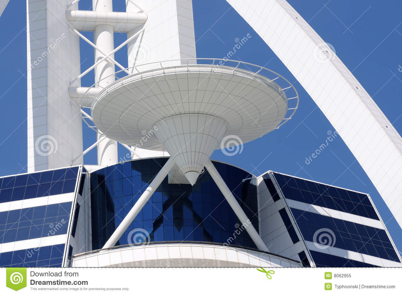 Helipad At Burj Al Arab Dubai Royalty Free Stock Photo
