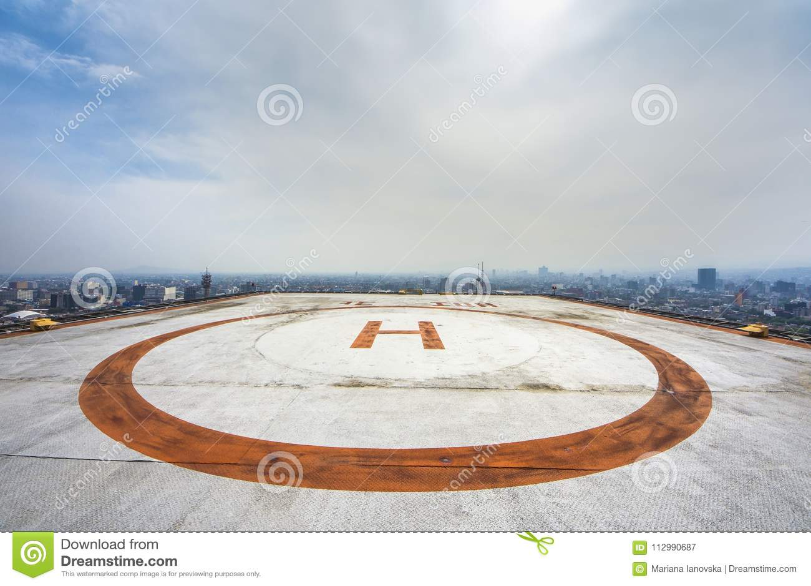 Helipad on roof top building