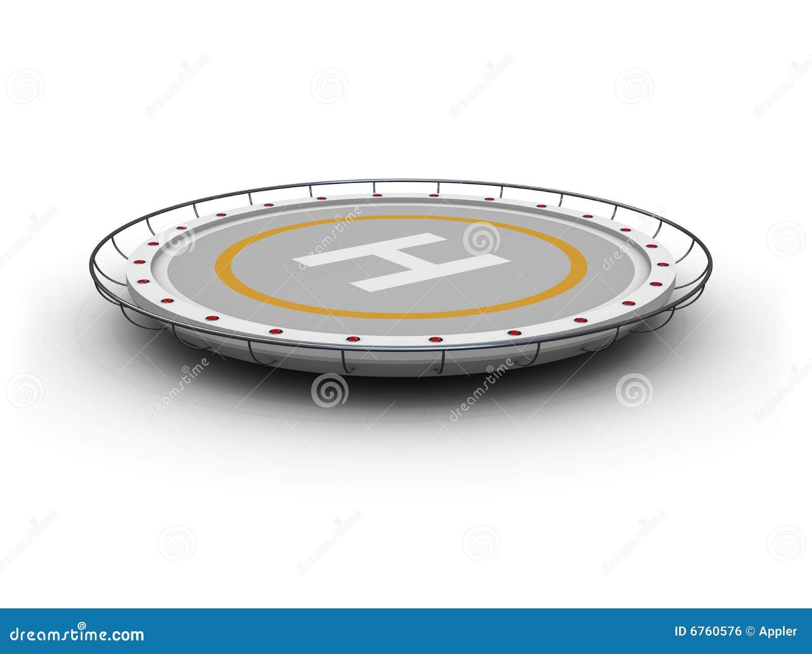 Heliport Royalty Free Stock Image Image 6760576