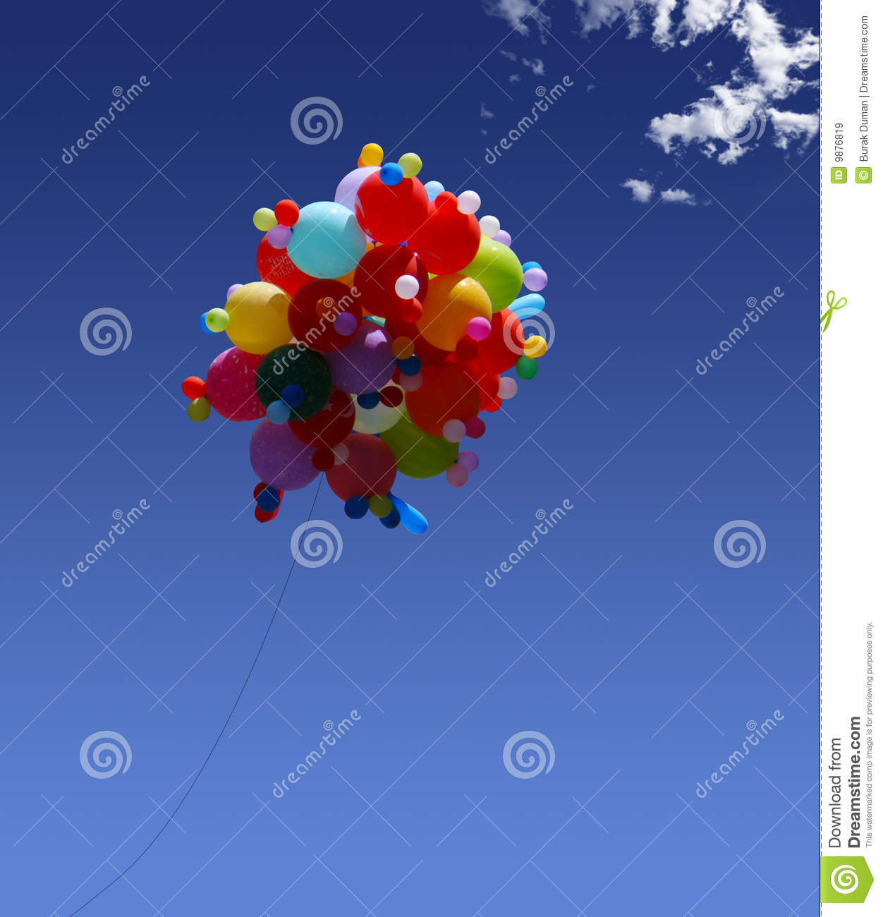 Helium Balloons Royalty Free Stock Images - Image: 9876819