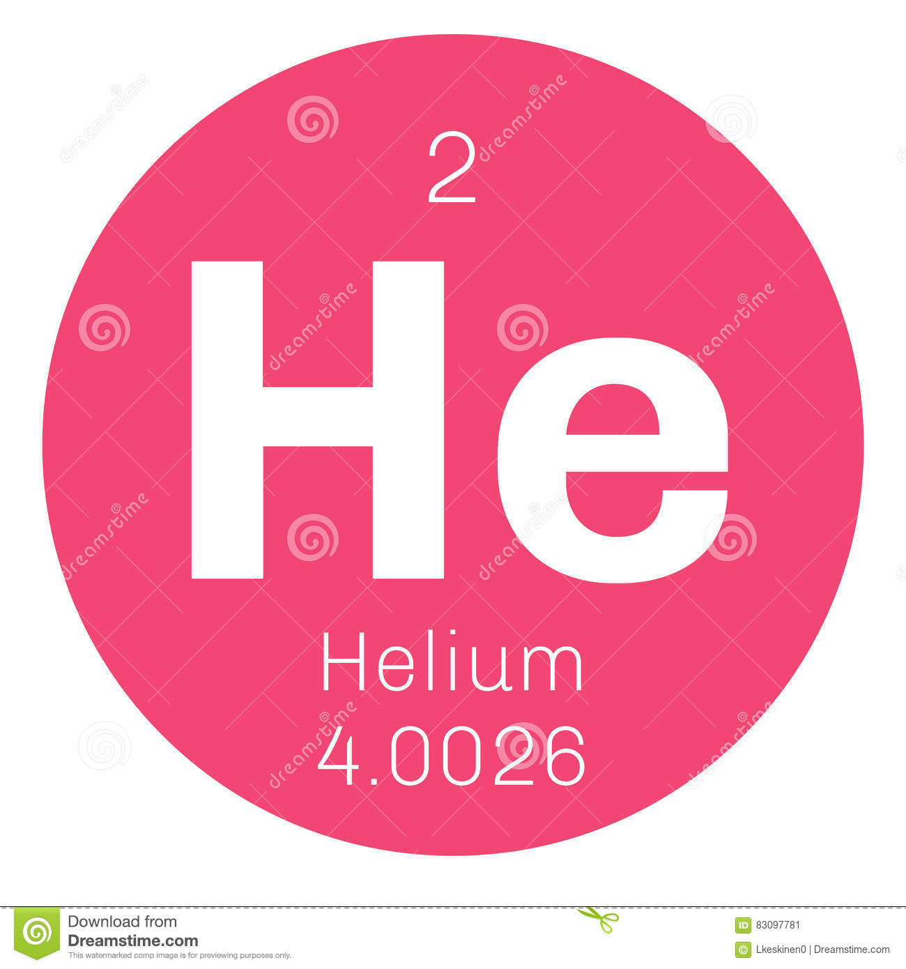 Helium Chemical Element Stock Vector Illustration Of Electron