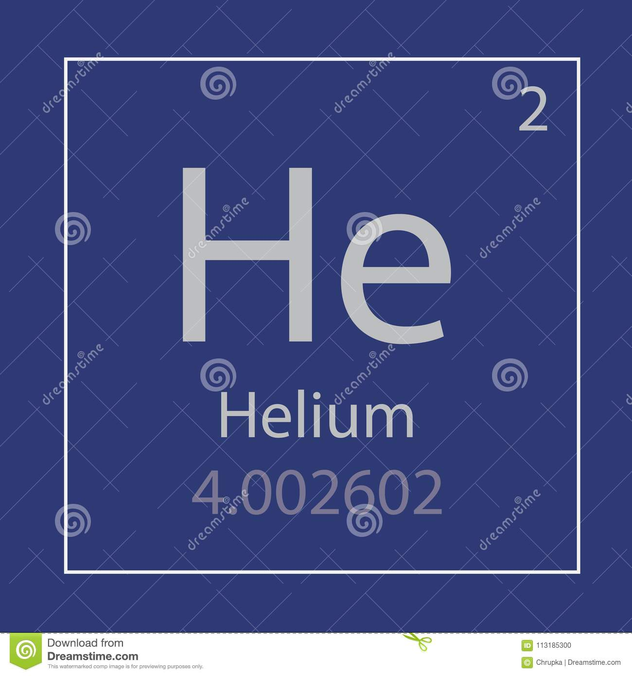 Helium He Chemical Element Icon Stock Vector Illustration Of