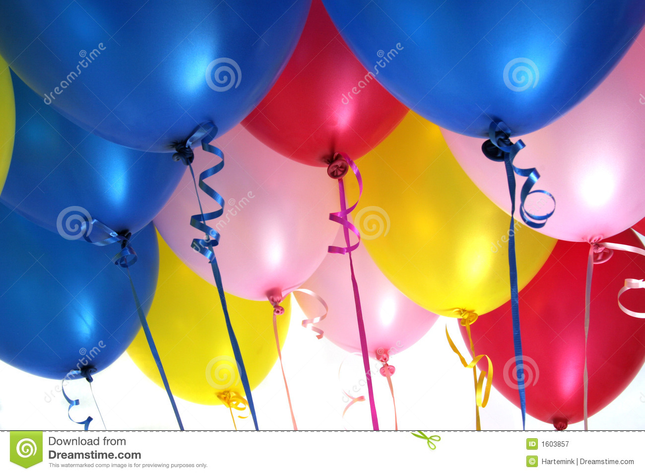 Helium Filled Party Balloons Royalty Free Stock ...