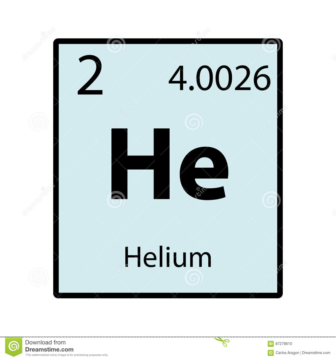 Helium periodic table element color icon on white stock helium periodic table element color icon on white buycottarizona