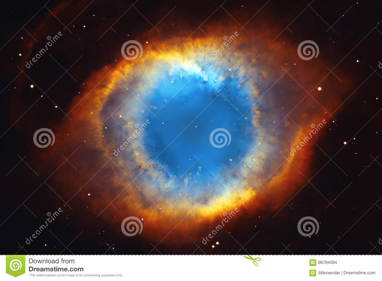 The Helix Nebula Or NGC 7293 In The Constellation Aquarius ...