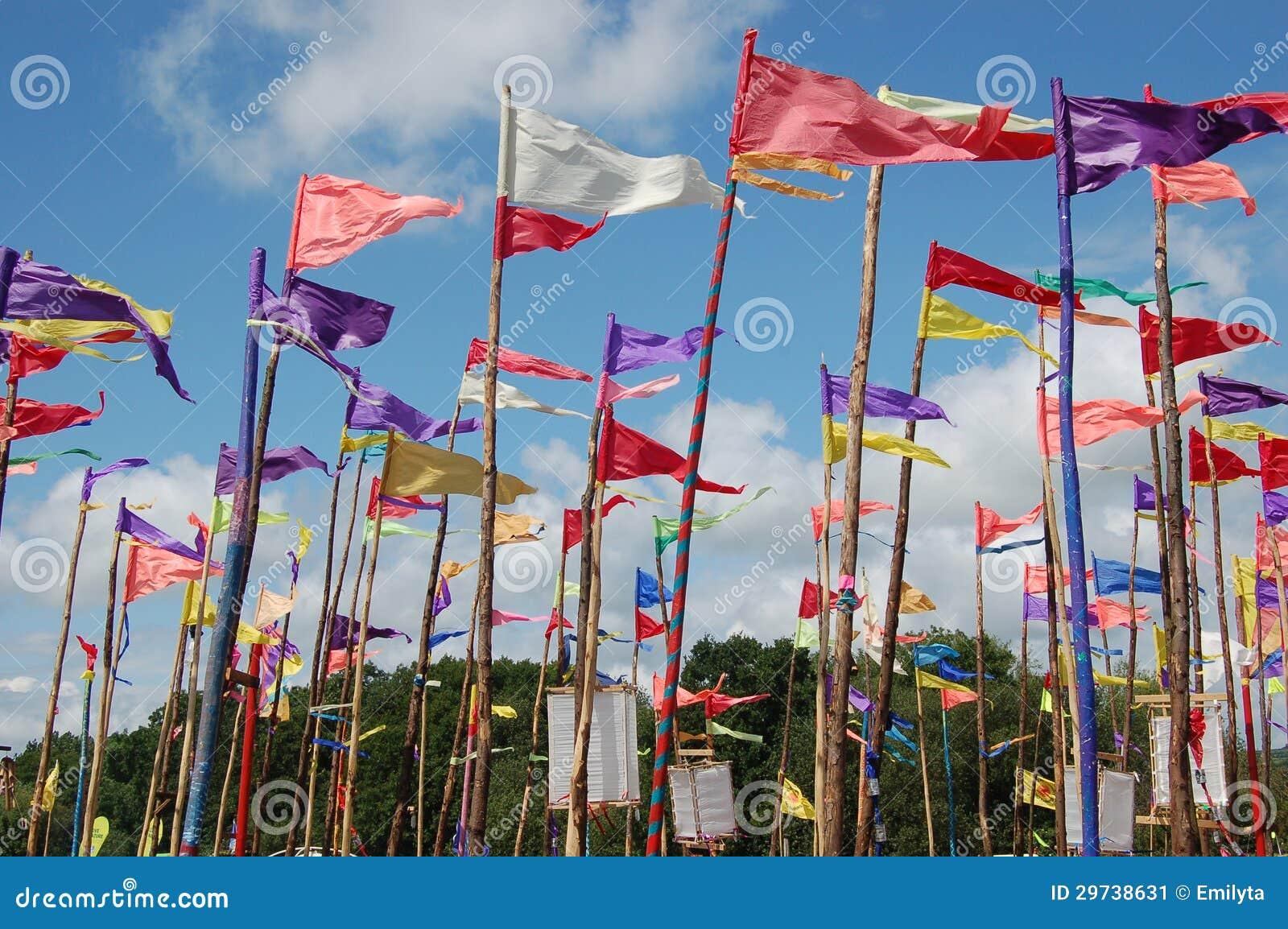 Festival flaggen stockbild bild 29738631 for Gelb karten gegen fliegen