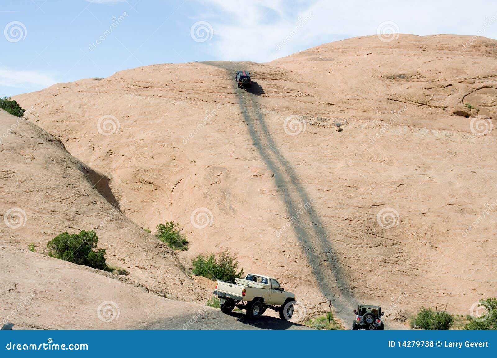 Hells Revenge At Moab Utah Royalty Free Stock Photos