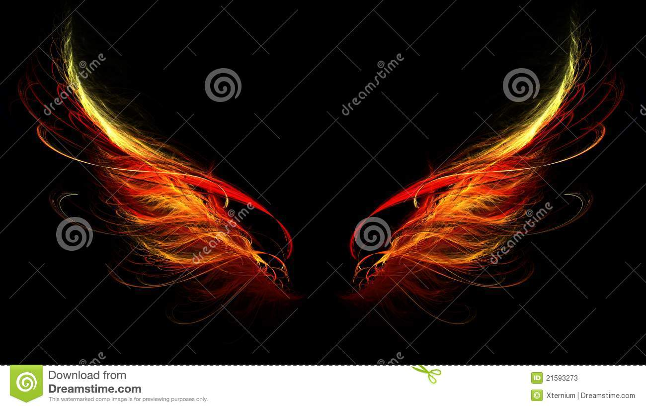 Hell Wings Stock Photos Image 21593273