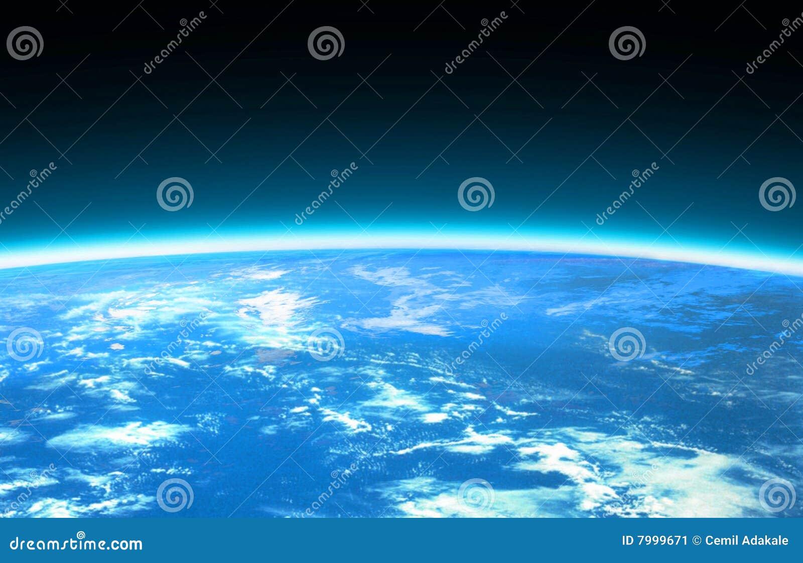 Hellblaue Weltkugel und -platz