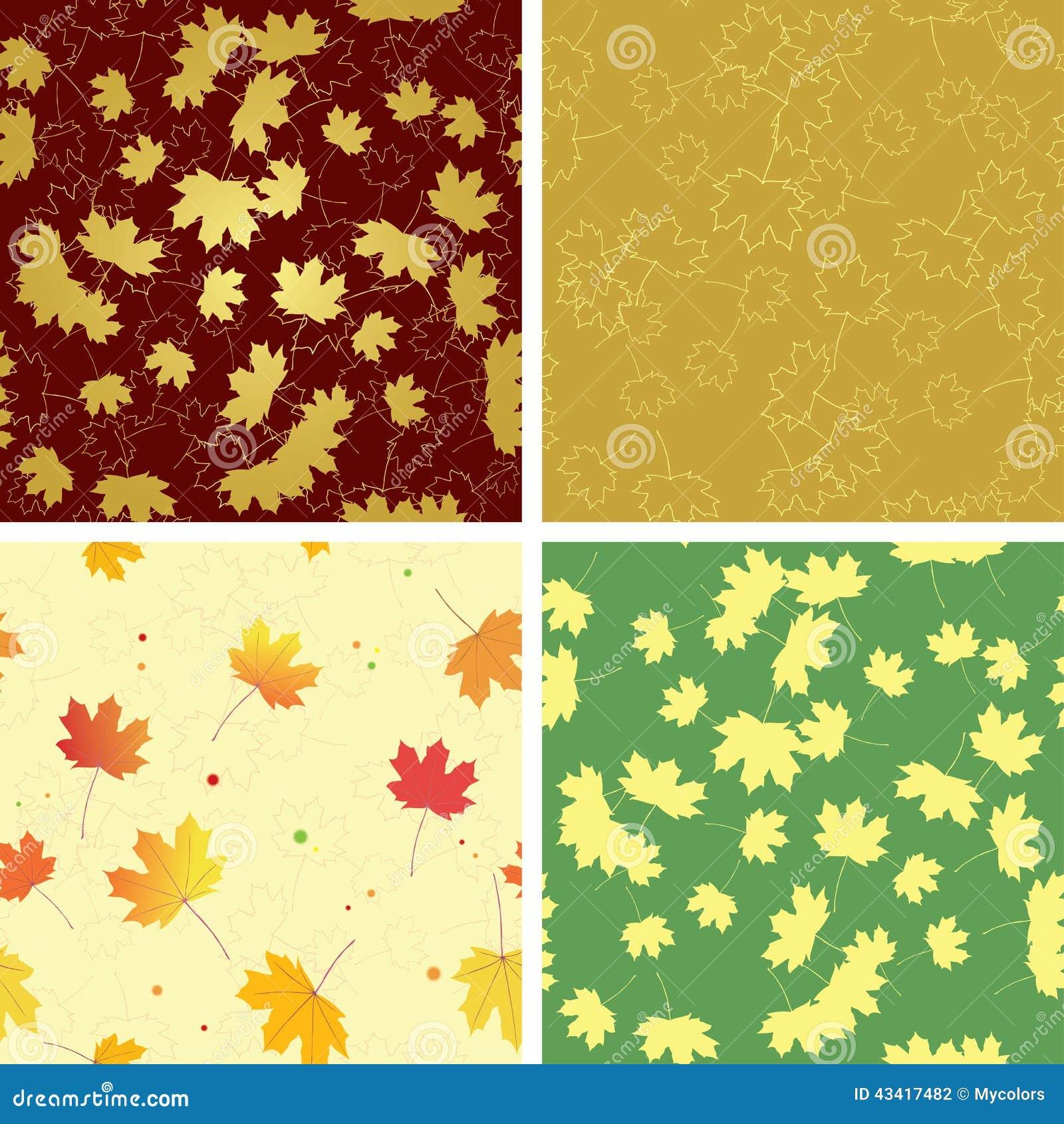 Helle Blätter des Herbstes in den nahtlosen Mustern