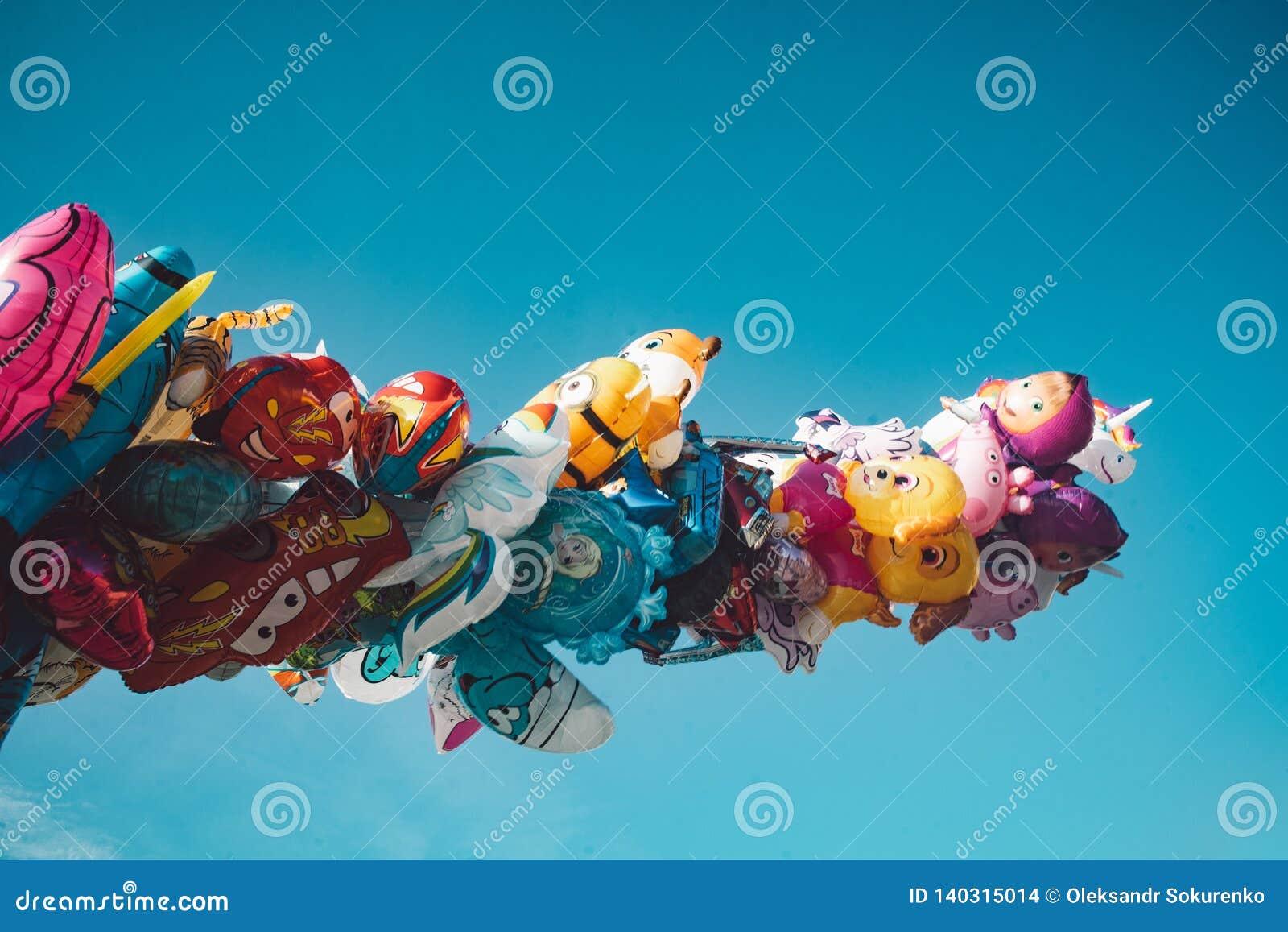 Helle bunte baloons