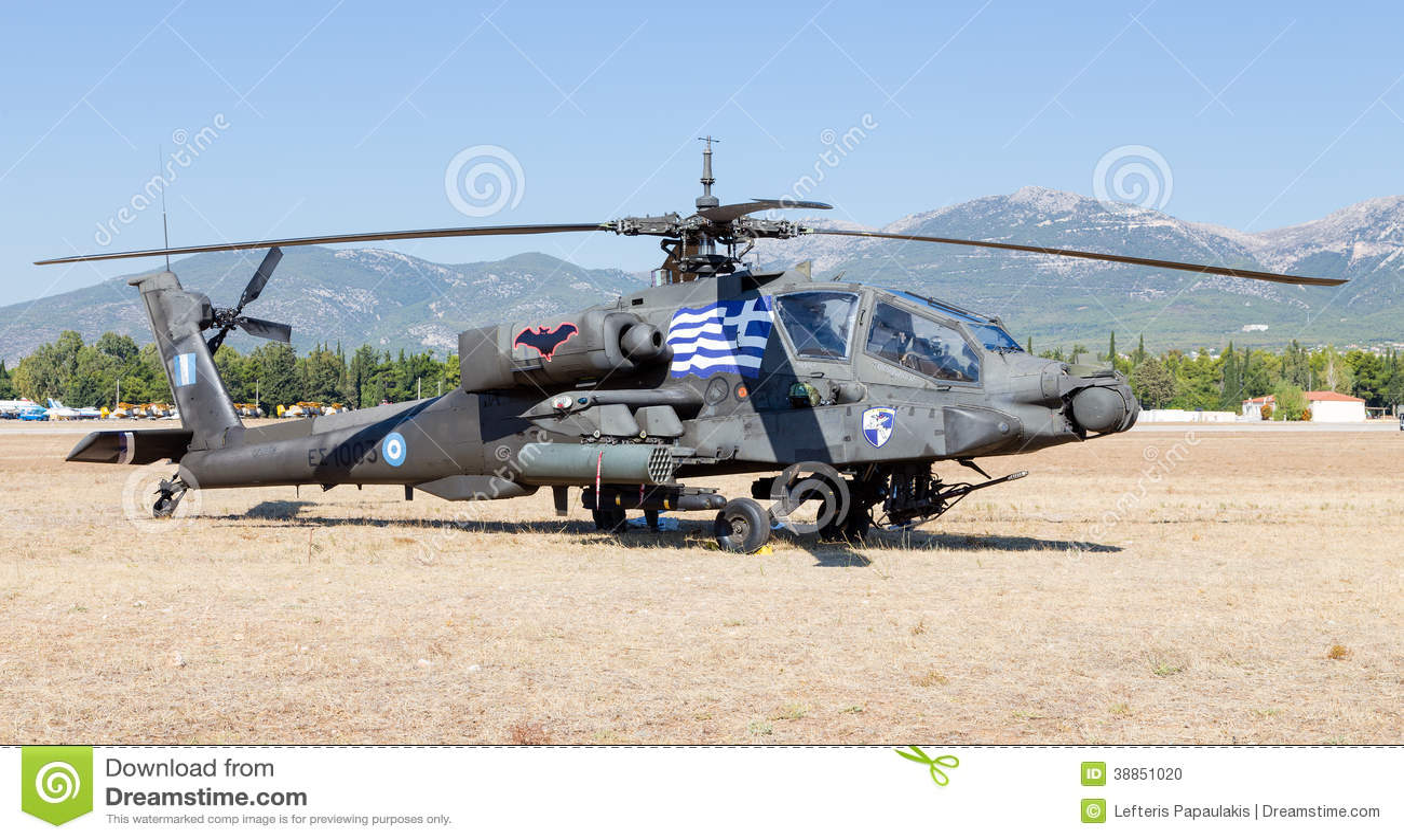 Hellenischer Hubschrauberangriff der Armee AH-64A Apache