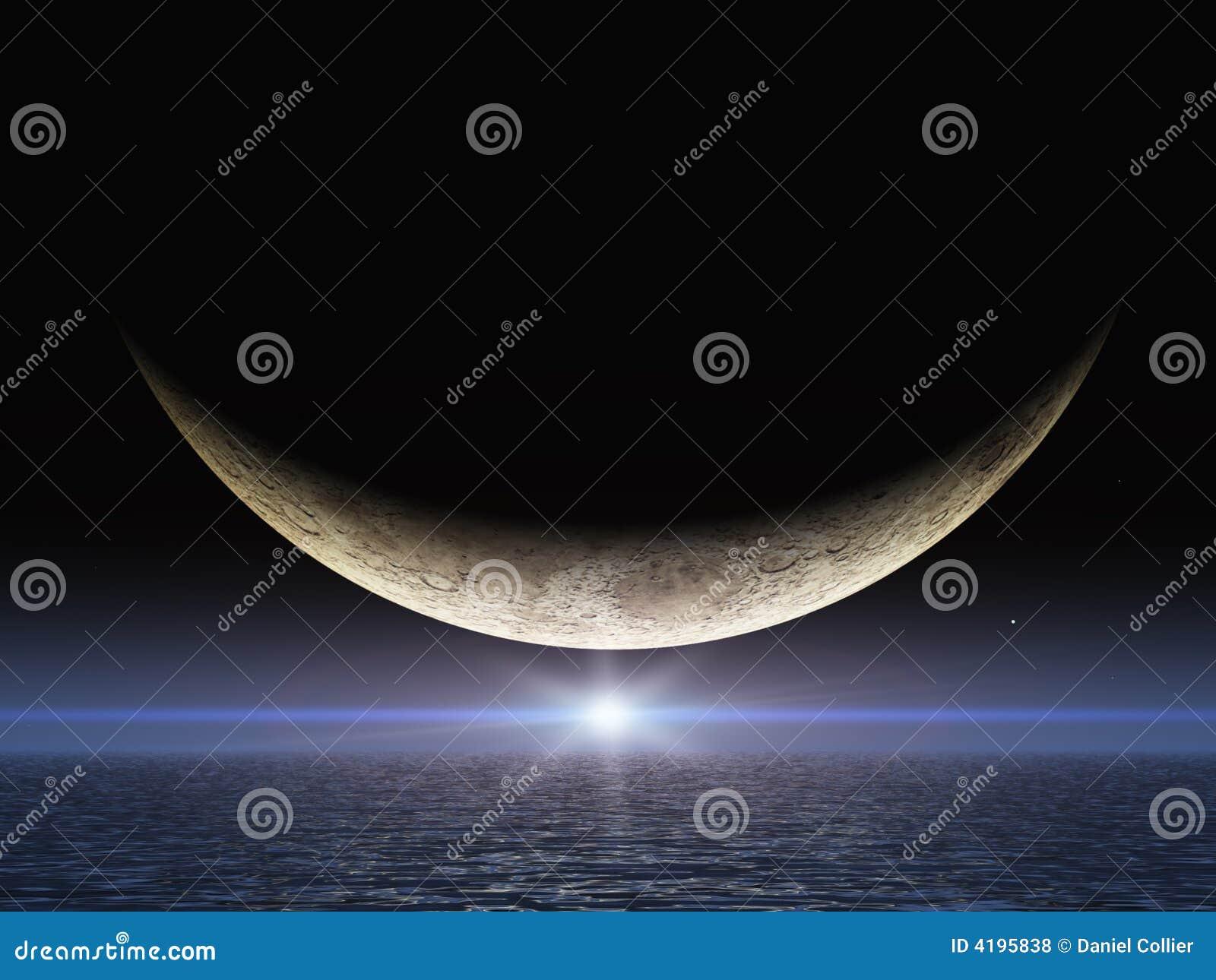 Heller Stern Neben Mond