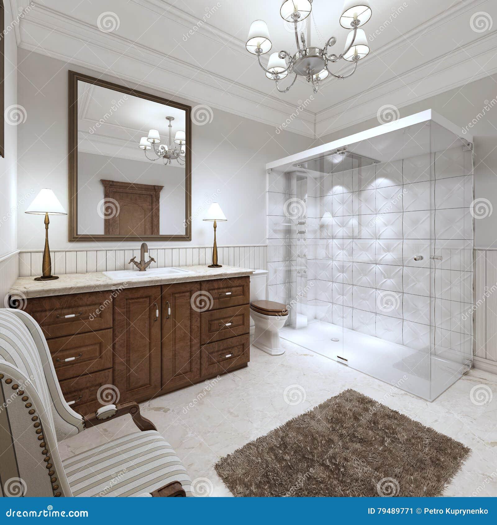 burlington edwardian. waschbecken in elegantem badezimmer im, Badezimmer ideen