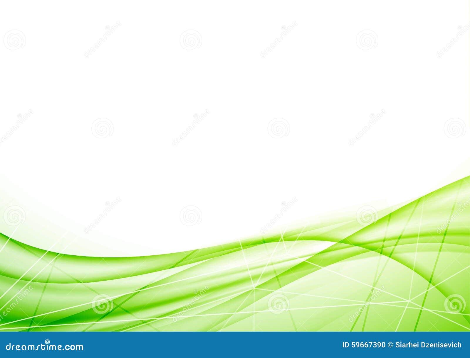 Helles eco geometrischer Plan grüner Welle