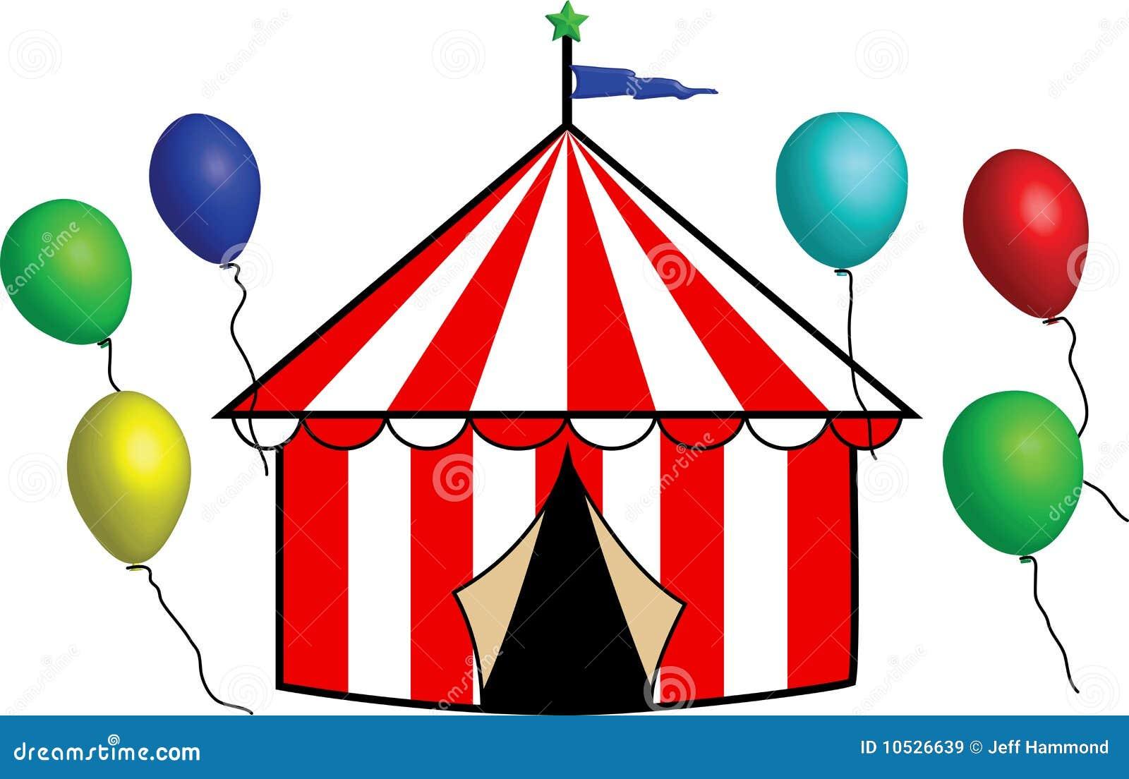 helles gestreiftes zirkus zelt mit ballonen stock circus tent clip art images free circus tent clip art images free