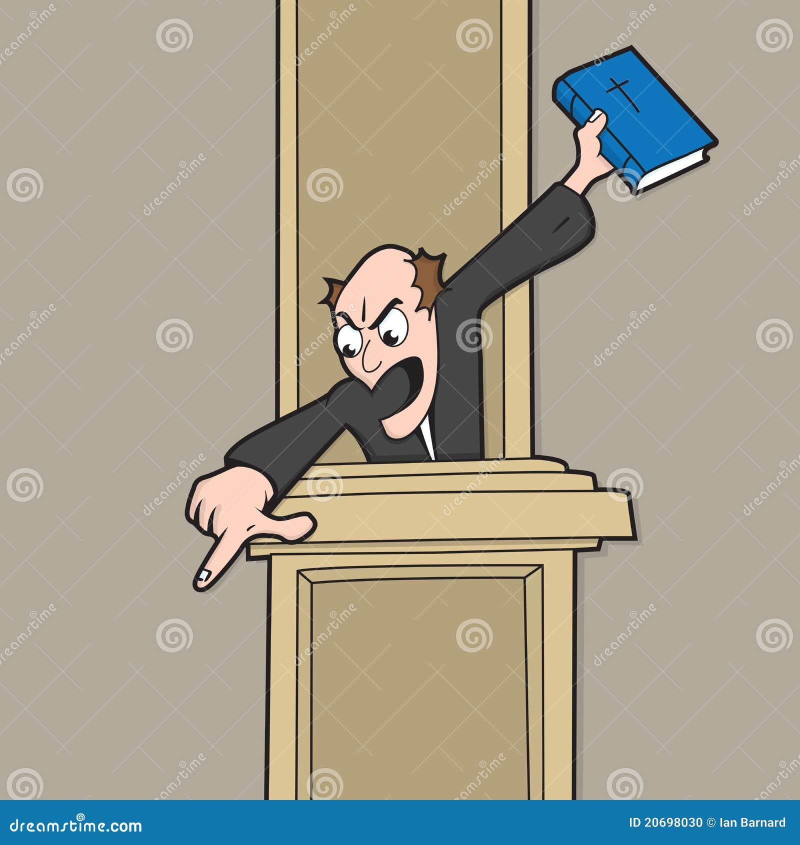 Superb Helllfire And Brimstone Preacher. Helllfire And Brimstone Type Preacher,  Shouting At His Congregation Whilst