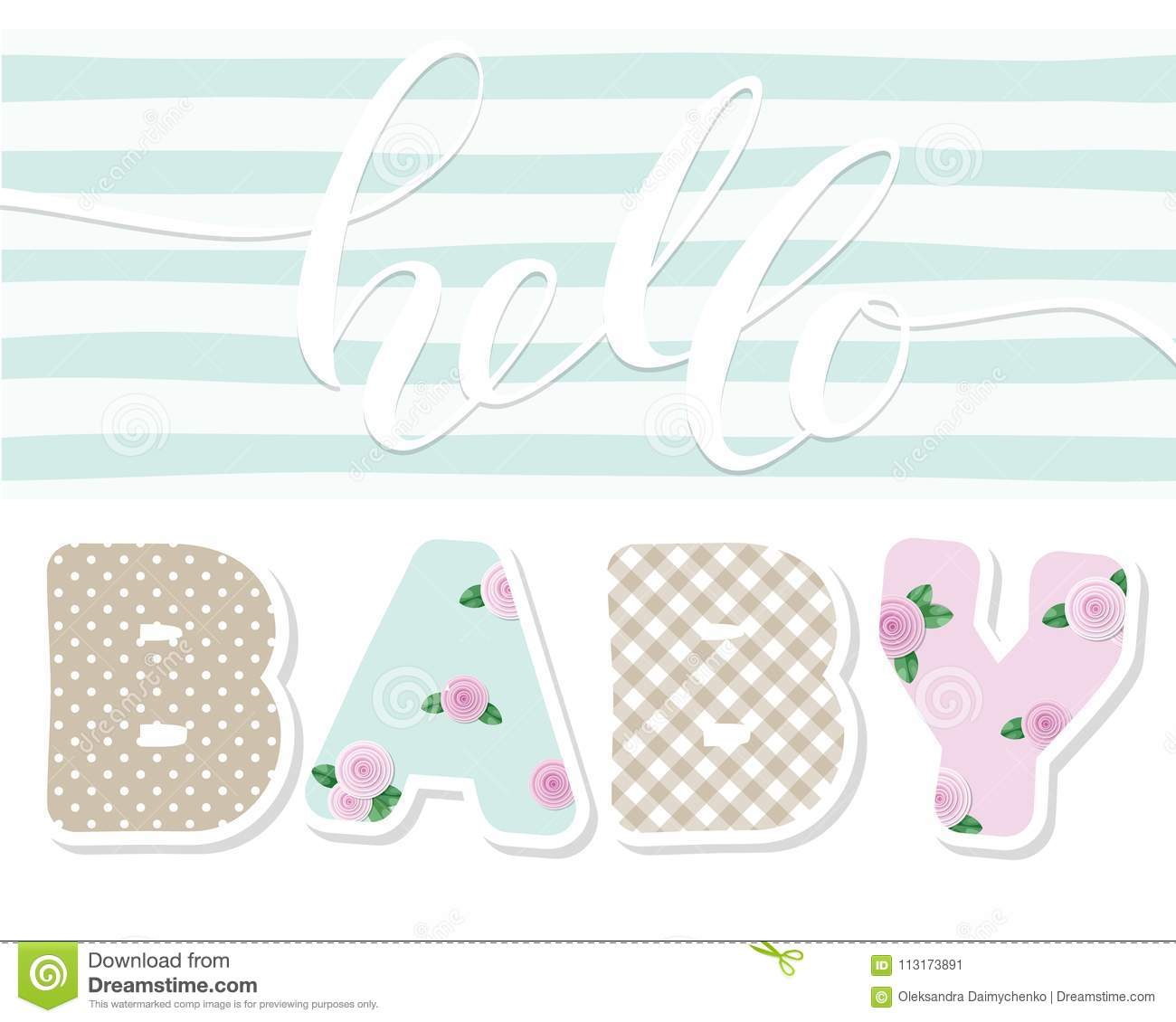 Hello Baby Cute Textile Letters For Kids Album Decoration Baby