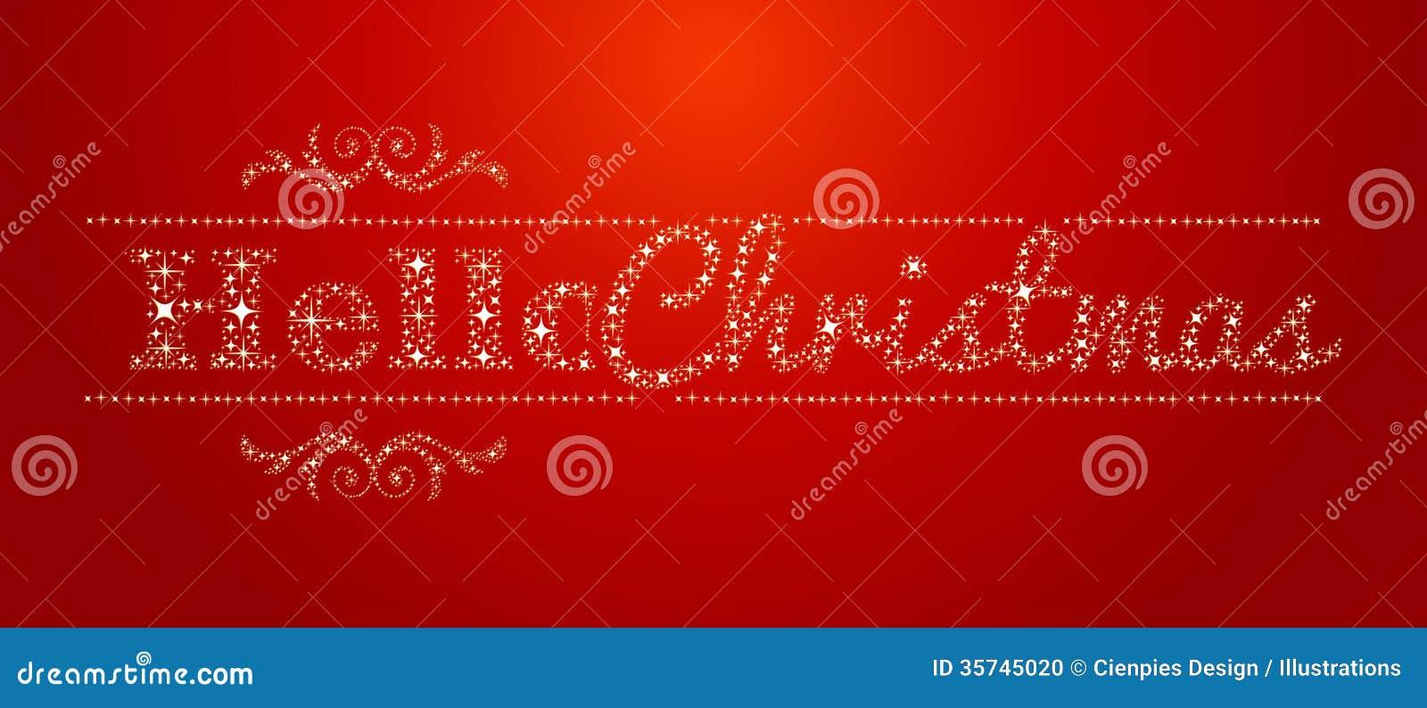 Hello Christmas Stars Signal Stock Photo - Image: 35745020