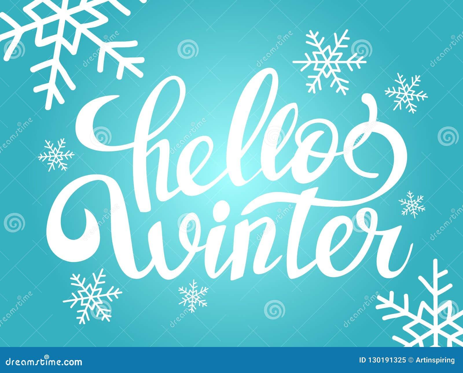 Ongekend Hello-de Winter Die Met De Hand Geschreven Teksten Van Letters WL-61