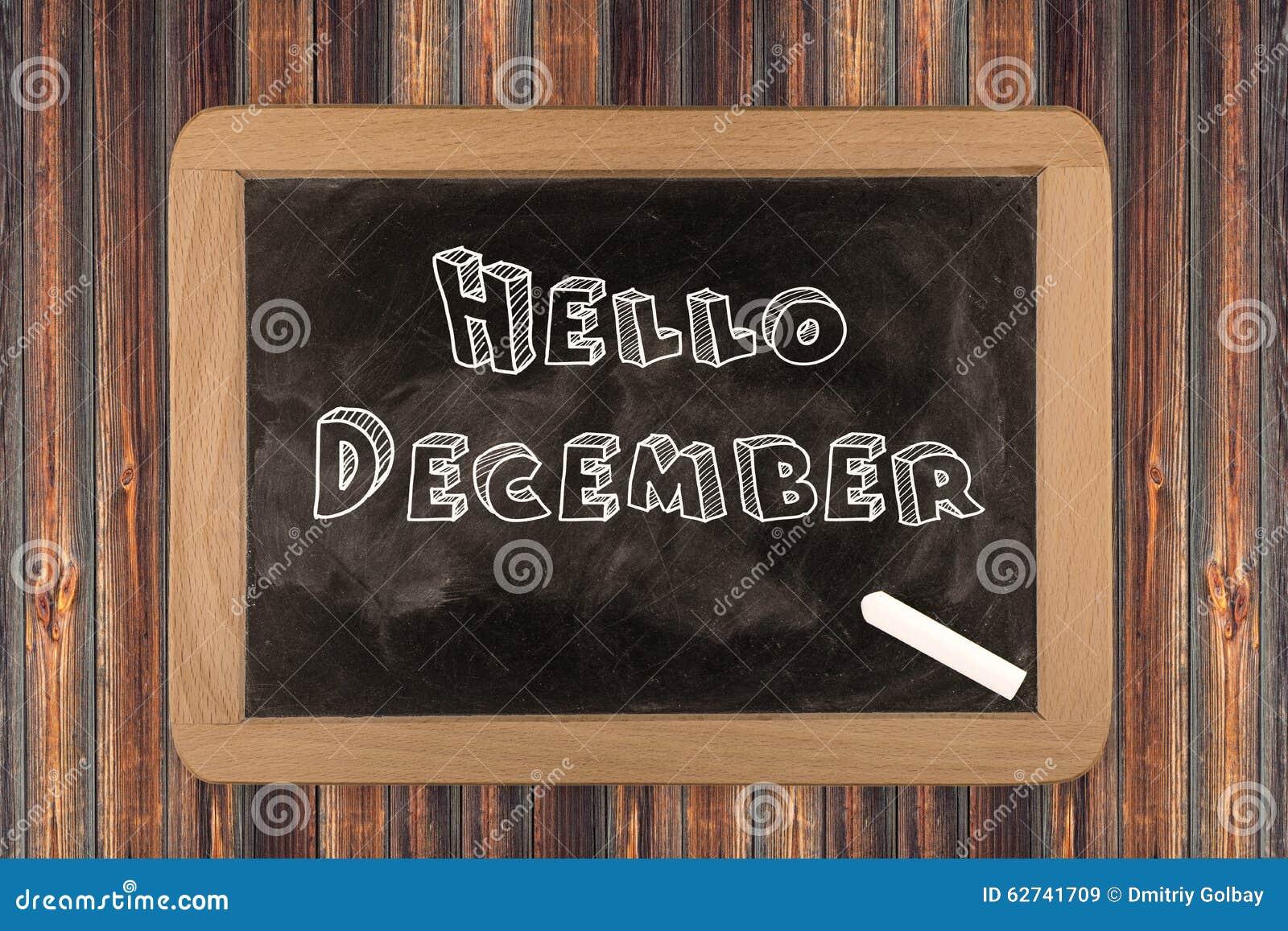 Hello December - svart tavla