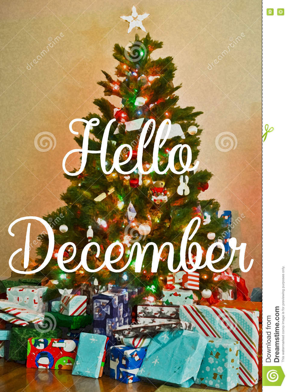Download Hello December stock photo. Image of base, superposed - 79903038