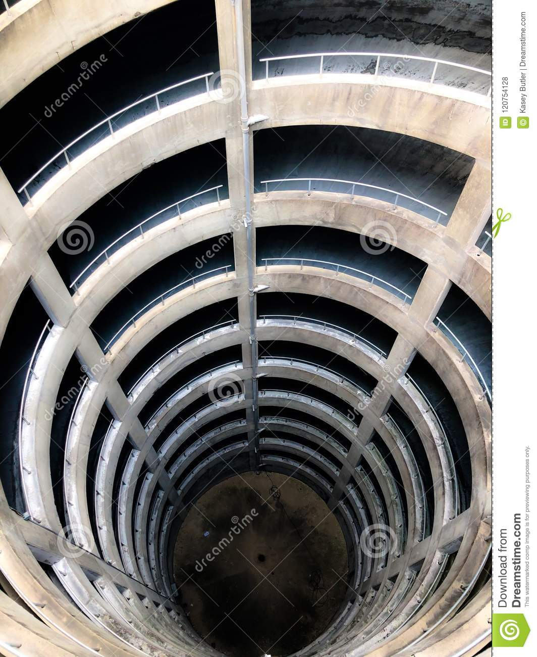 Hello Down Below stock photo  Image of parking, spiral - 120754128