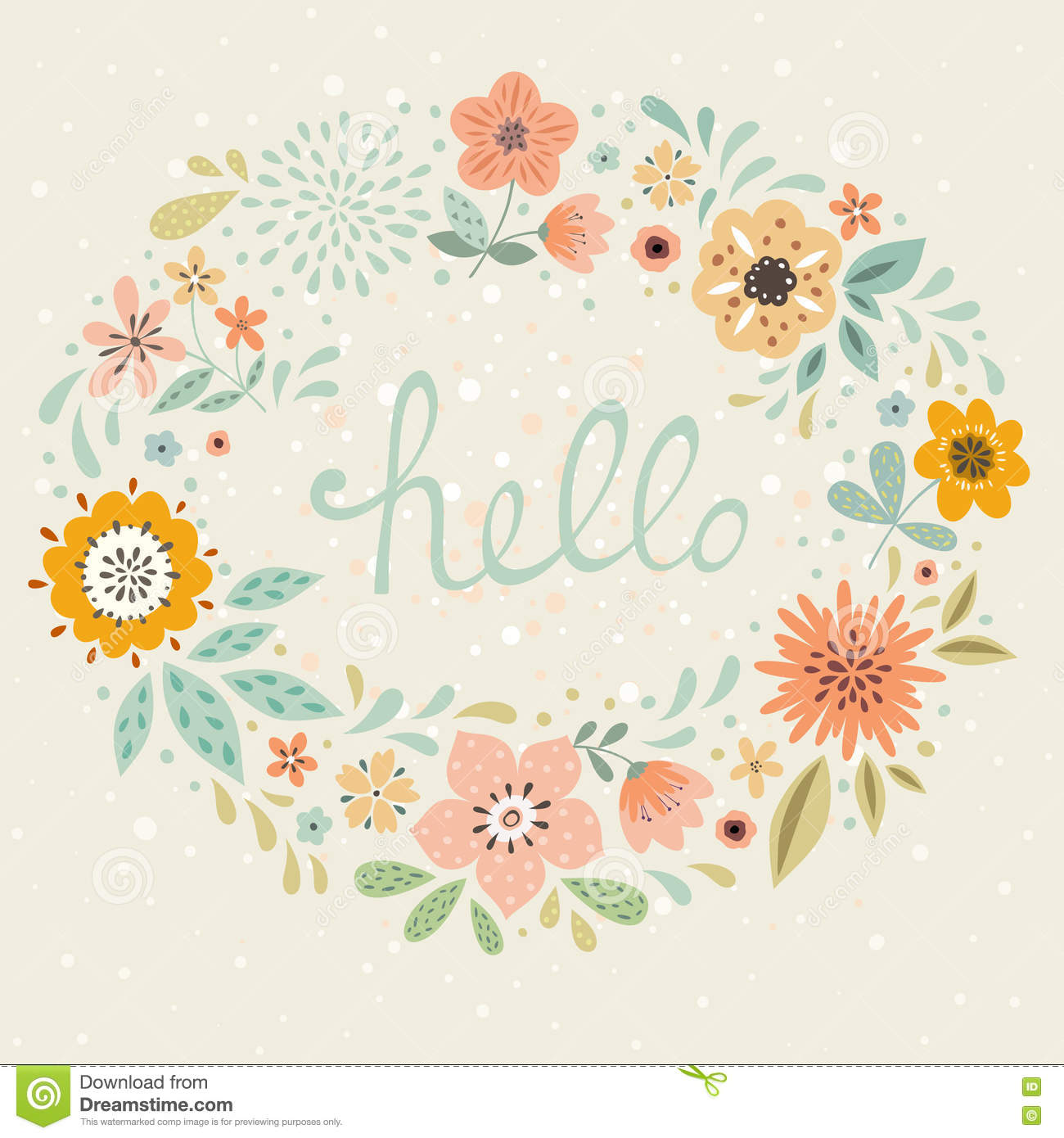 List Of Synonyms And Antonyms Of The Word Hello Greeting Card
