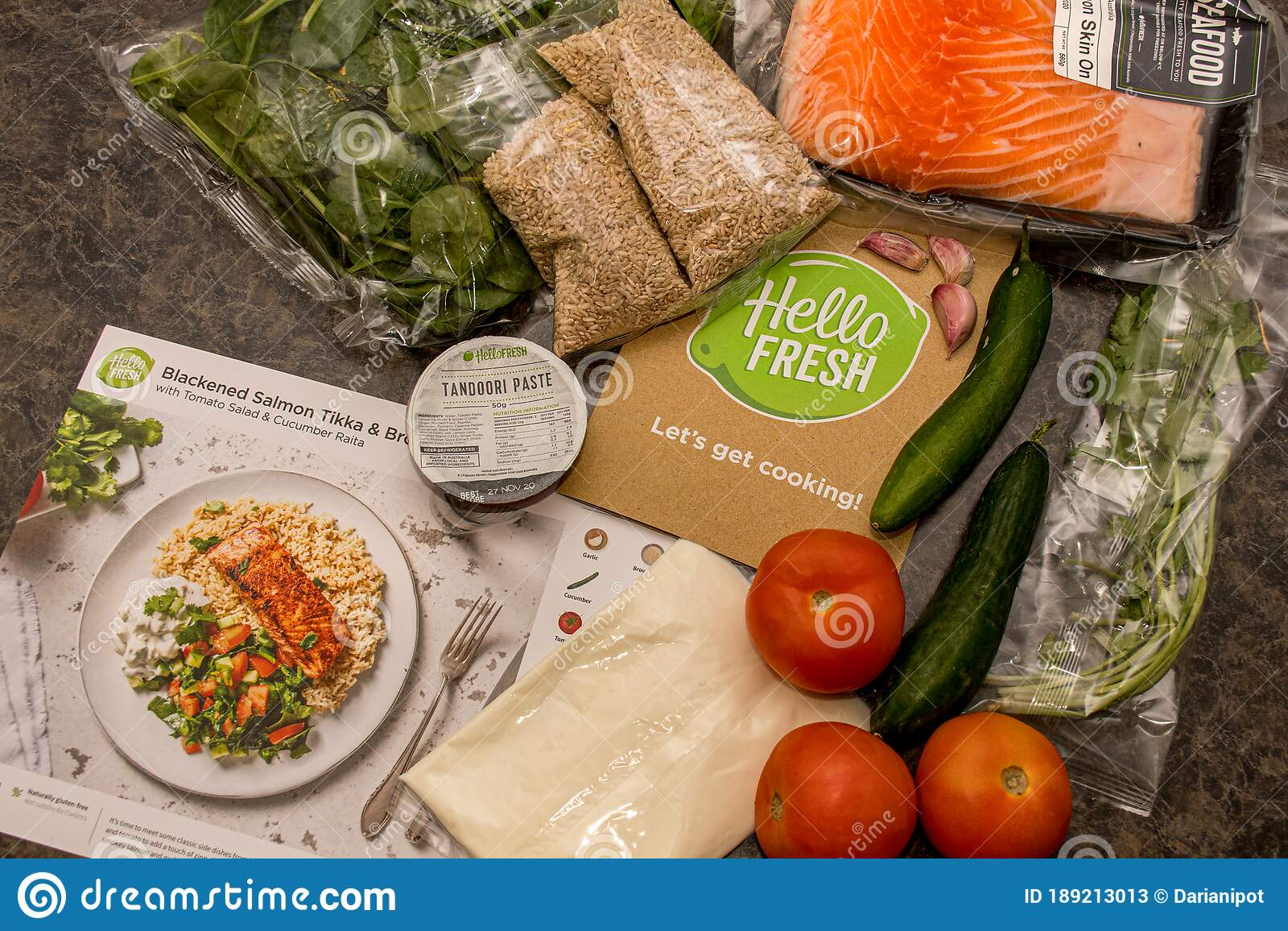 Hello Fresh Meal Kit On A Kitchen Countertop Editorial Stock Photo Image Of Kitchen Business 189213013