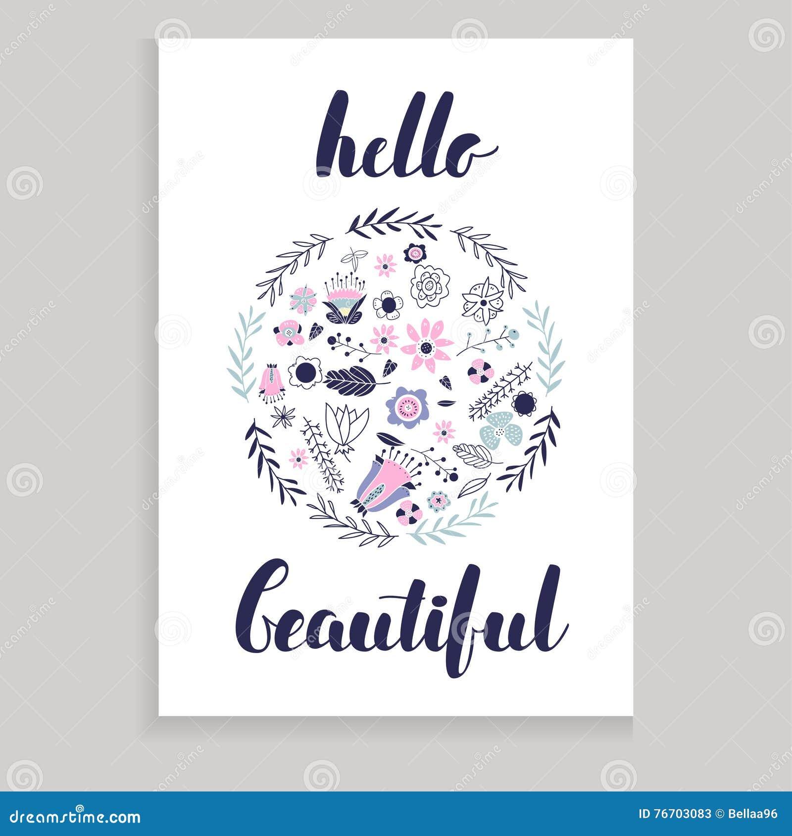 Hello härligt kort