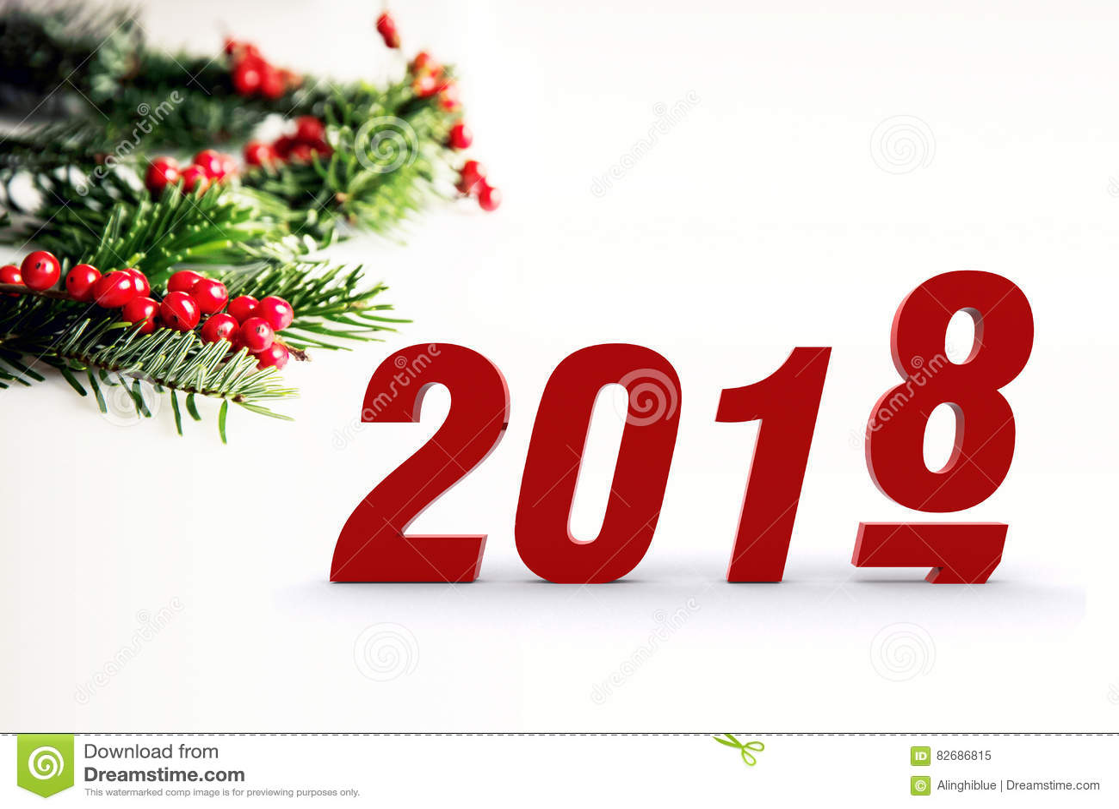 Hello 2018 Stock Photo - Image: 82686815