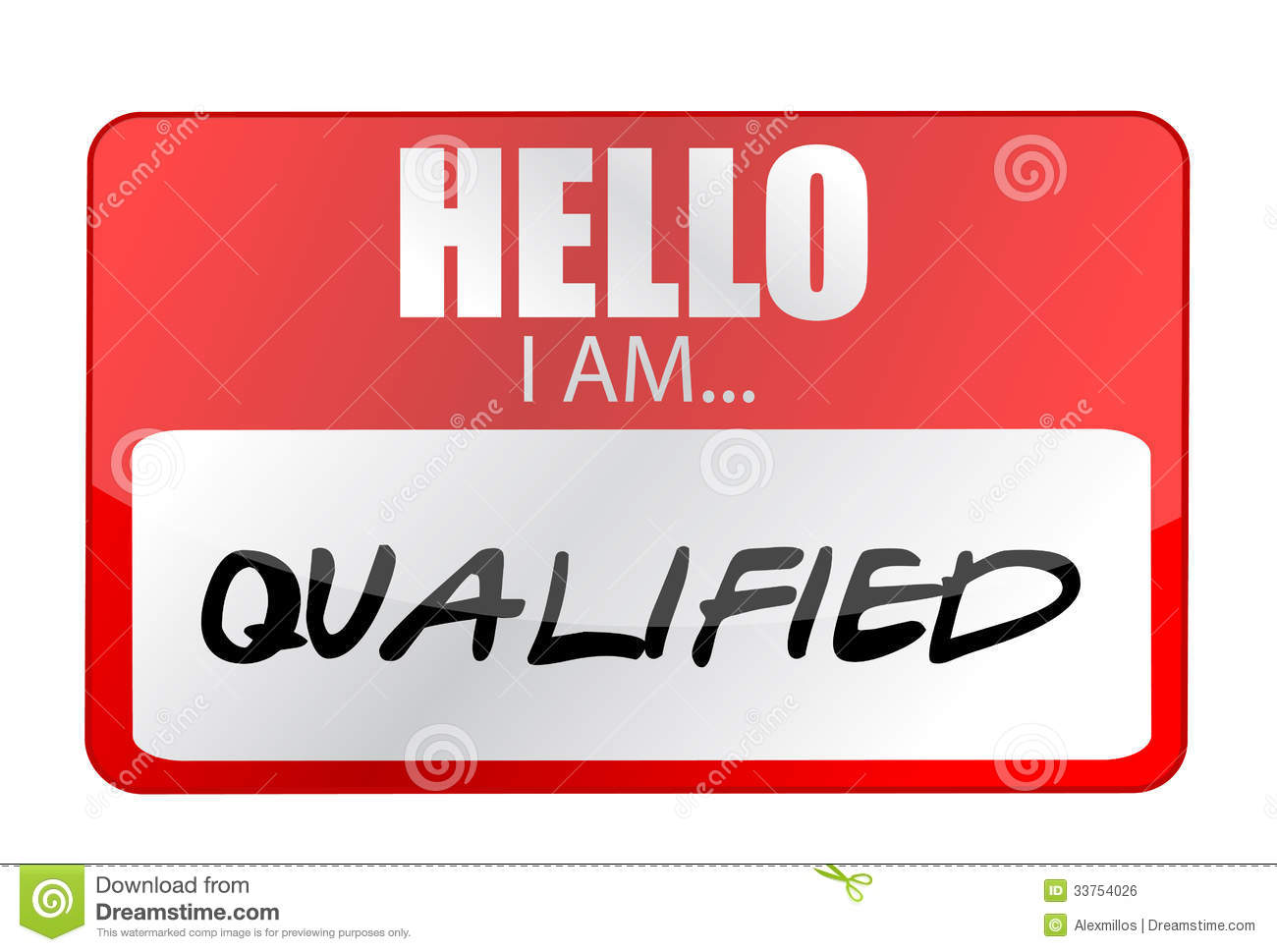 Hello I am qualified tags. Illustration design over a white background ...