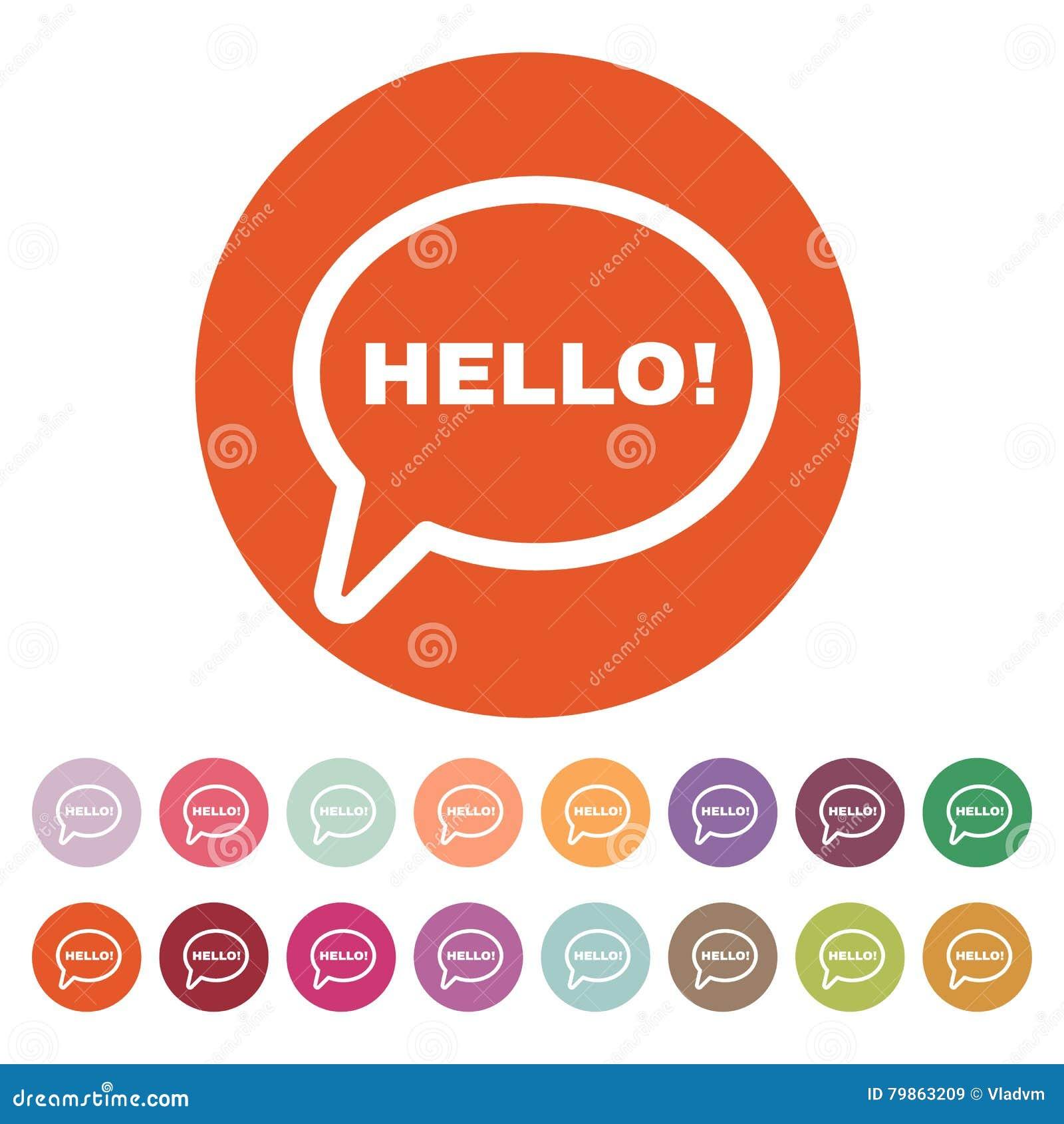 The hello icon greet and hi symbol flat stock vector greet and hi symbol flat m4hsunfo