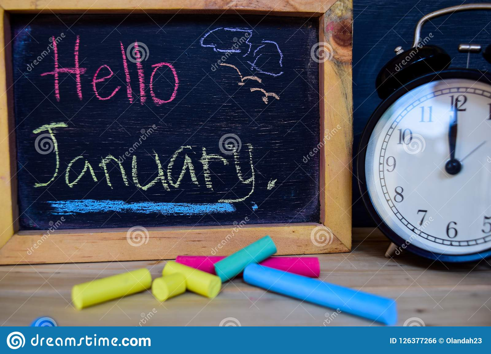 Hello january. Back to school concept