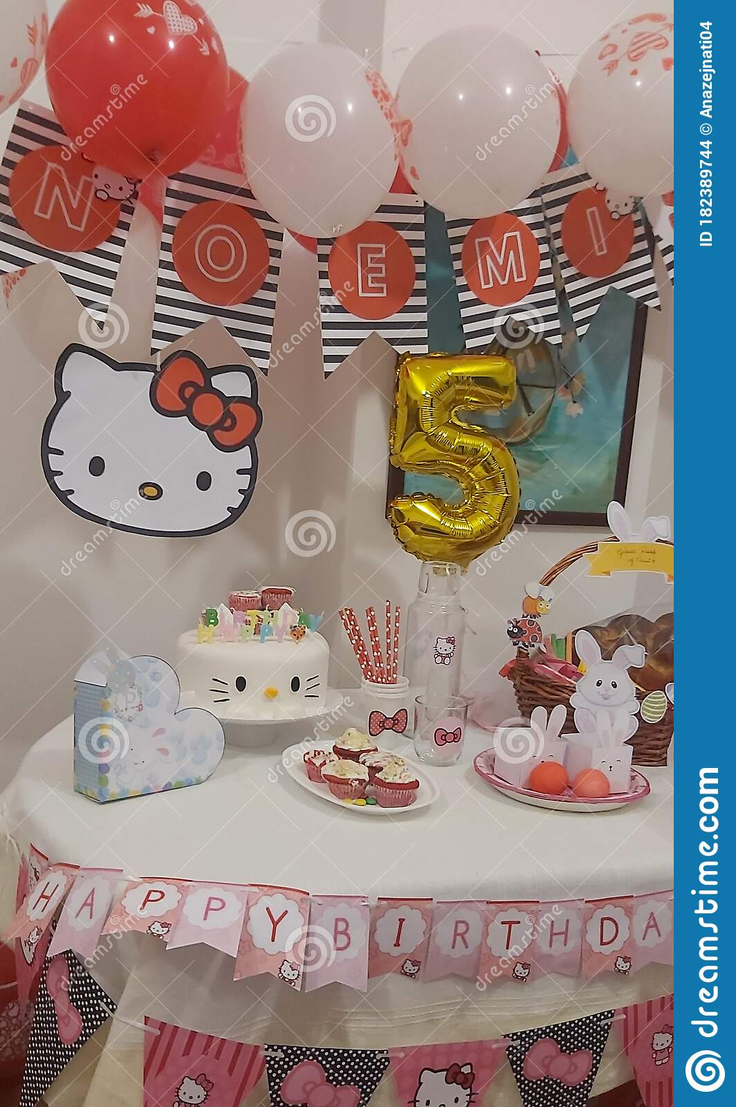 Hello Kitty Birthday Cake Editorial Stock Image Image Of Home 182389744