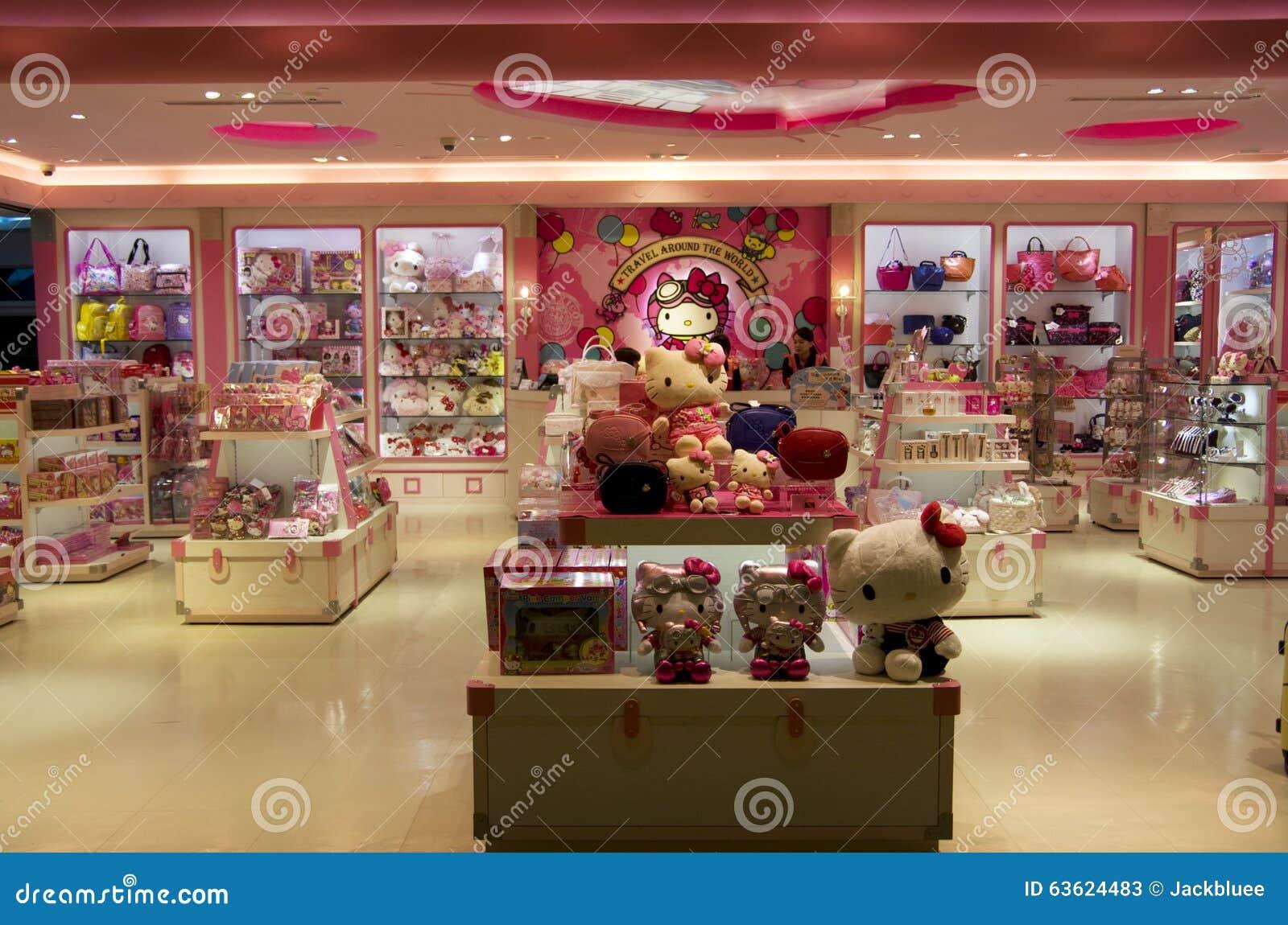 b3ebfe758 Hello Kitty shop editorial stock photo. Image of doll - 63624483
