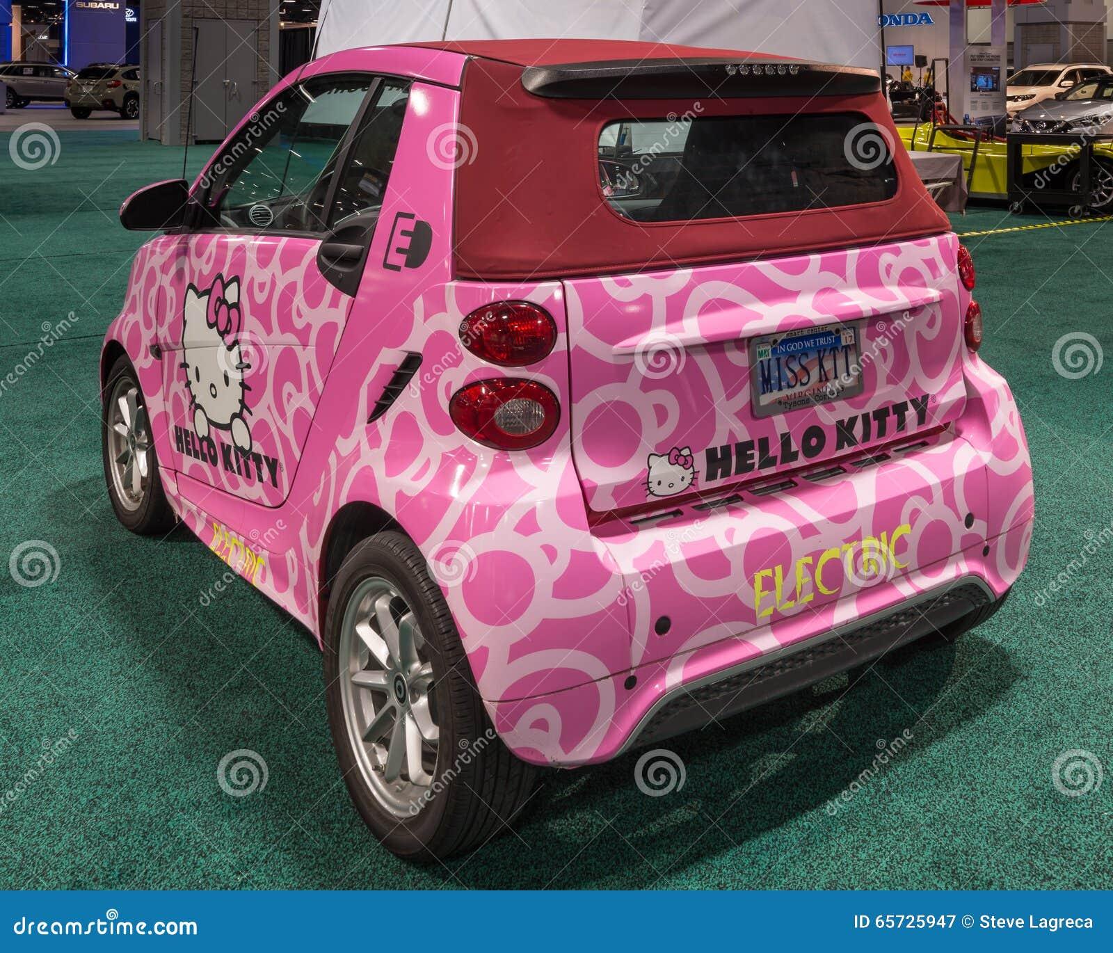 Hello Kitty Smart Fortwo ED Cabrio EV Editorial
