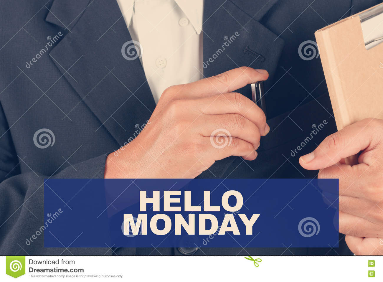 Hello monday day quotes - Business man background