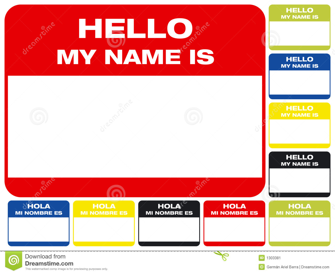 Hello My Name Is: Hello, My Name Is Stock Image