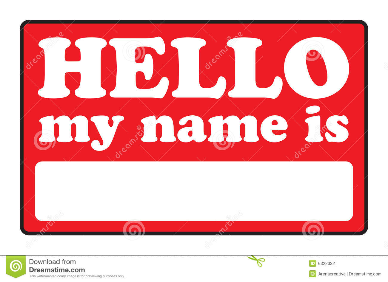 Hello My Name Is: Hello My Name Is Tags Cartoon Vector