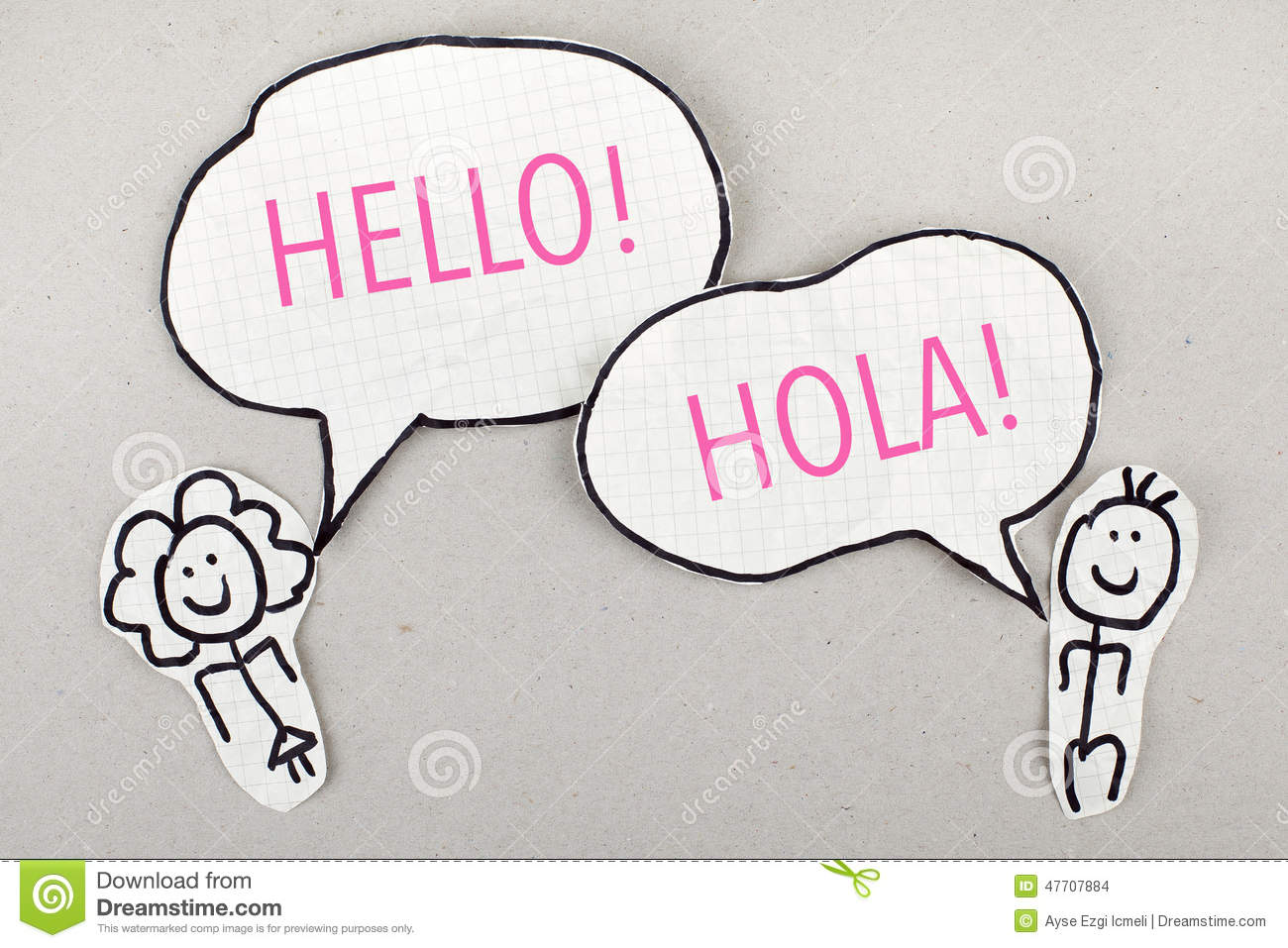 Hello Spanish Language Speaking Hola Stock Photo - Image ...