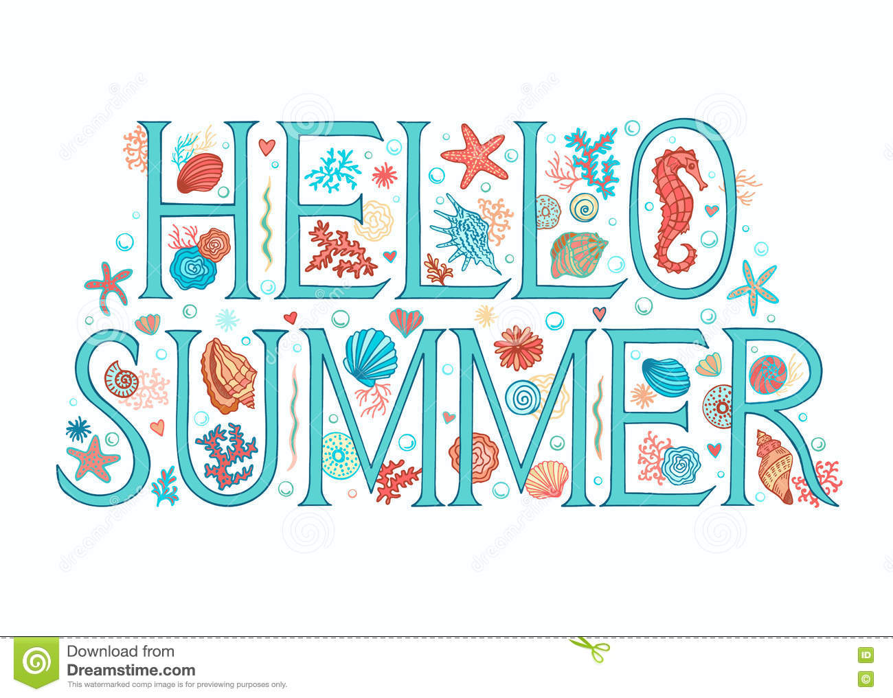 Hello summer background stock vector illustration of background seasons greeting card printable for universal size 127x178 mm vector illustration m4hsunfo