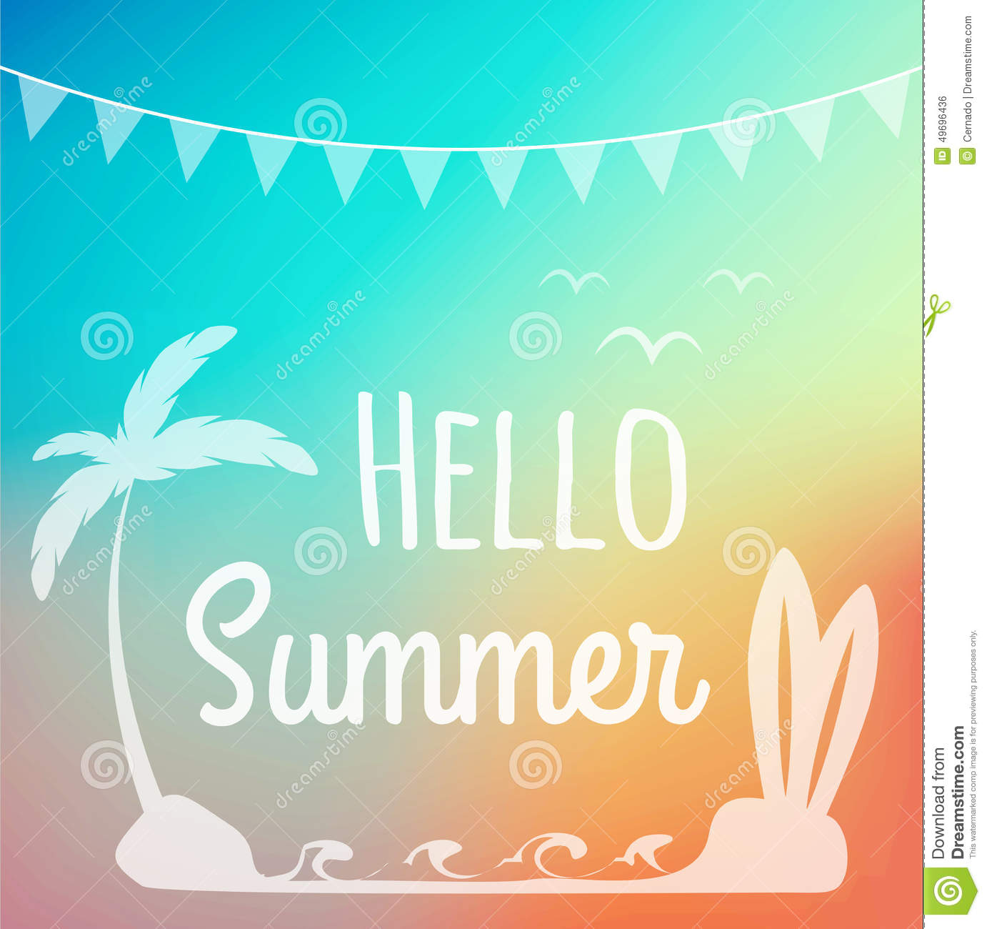 Hello Summer Stock Vector - Image: 49696436