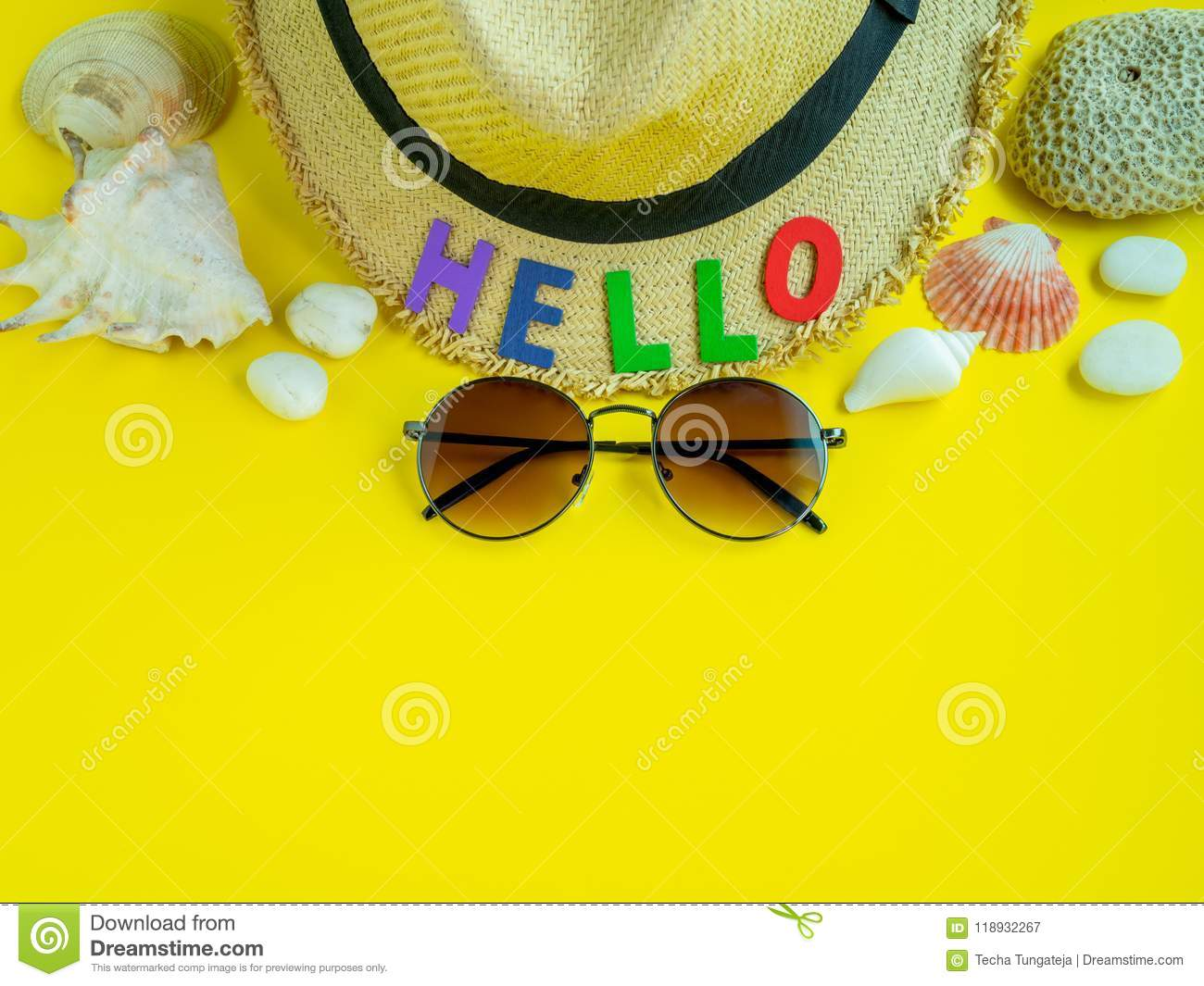 49fd2f221f1 Hello Summer stock image. Image of coral
