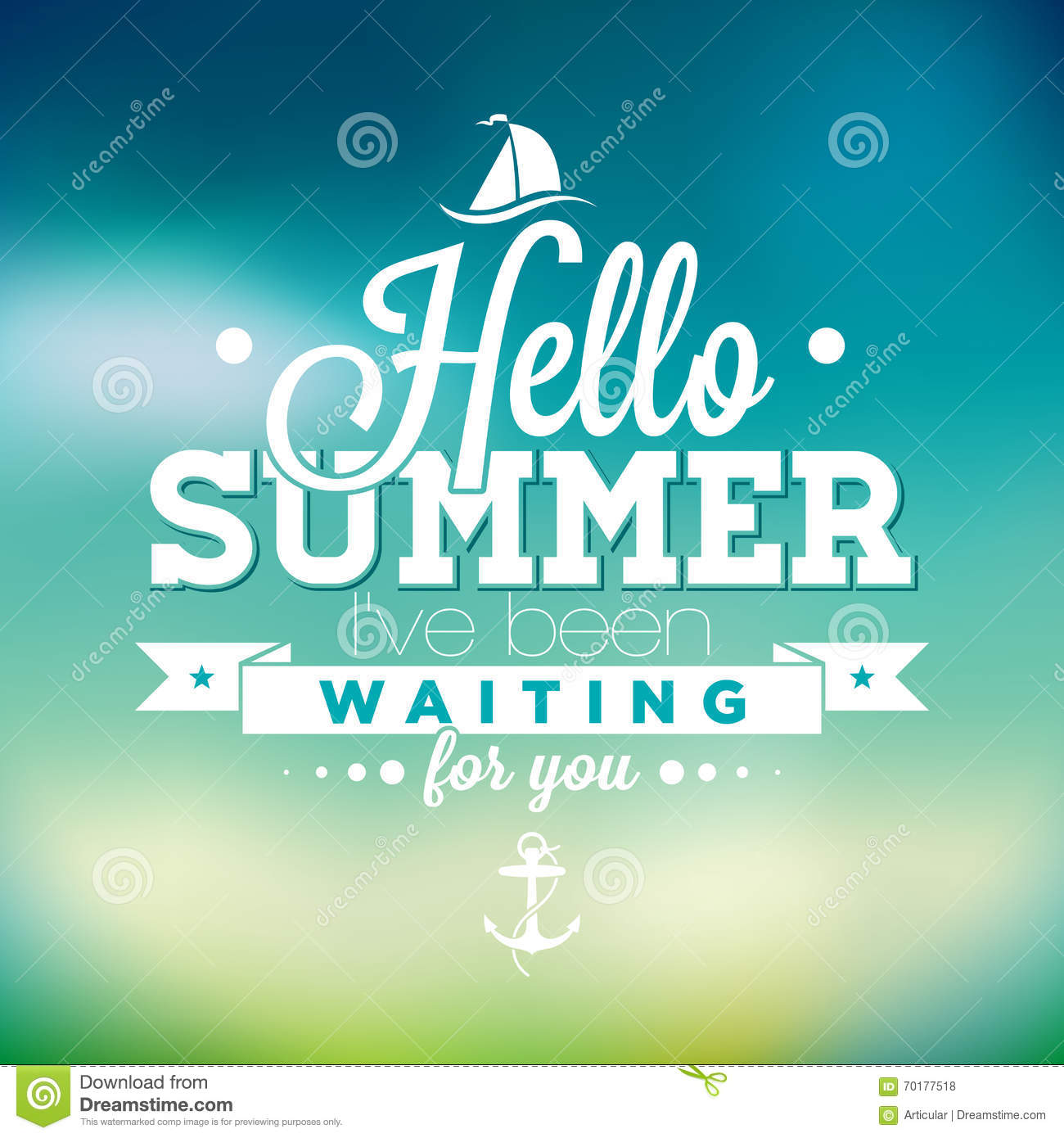 Dreaming Of Summer Quotes: Hello Summer, I've Been Waiting For You Inspiration Quote