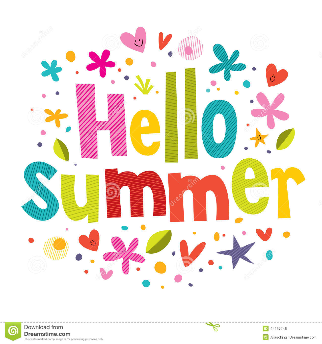 Hello Summer Stock Vector Image 44167946