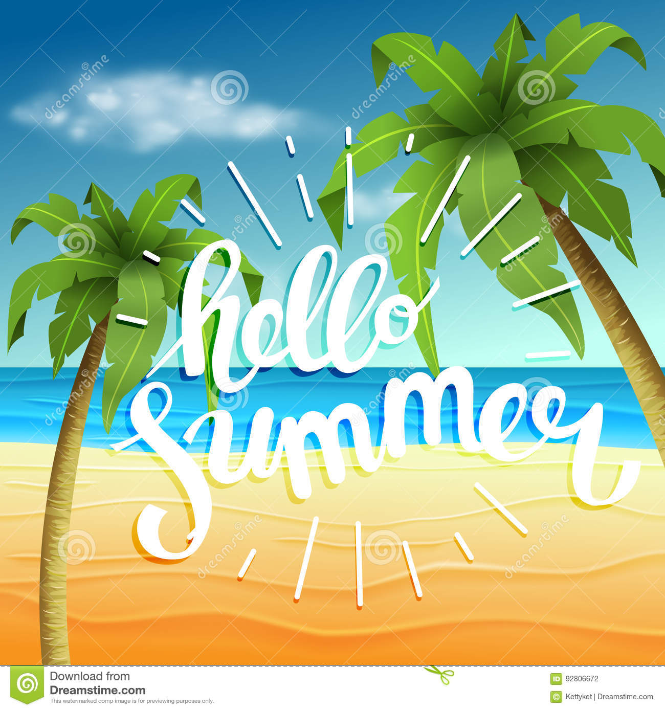 Hello Summer, Summer Time. The Poster Against The ...