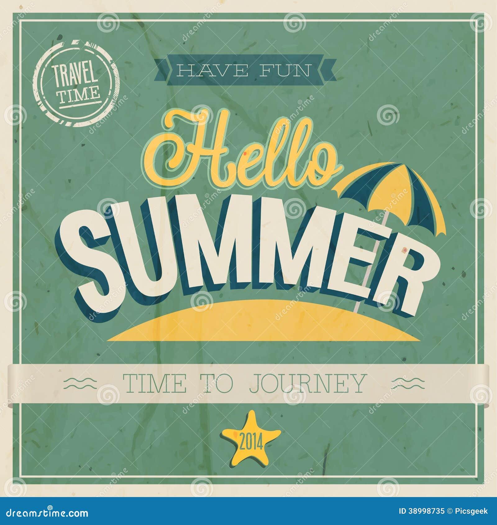 Hello Summer. Stock Vector