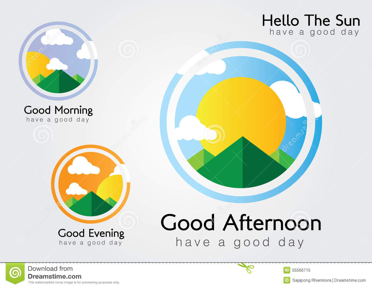 Hello The Sun We Have A Good Day Stock Vector Illustration Of